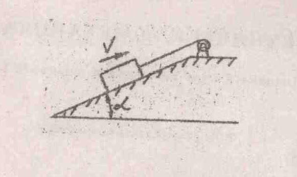 Контрольная работа № Техническая механика вариант  Груз массой 3 т с помощью лебедки равномерно перемещается вверх по наклонной плоскости Приняв силу трения fтр 0 1 веса груза определить аналитически и